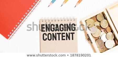 Importante texto bloc de notas lápiz rojo objetivo Foto stock © fuzzbones0