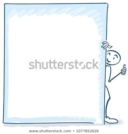 Stick figure behind a big billboard Stock photo © Ustofre9