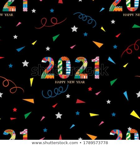Ano novo feliz projeto fundo bola Foto stock © carodi