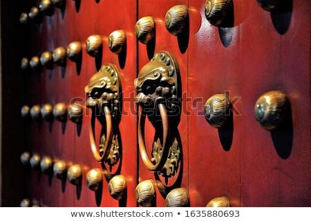 Stok fotoğraf: Çin · kapı · simge · bağbozumu · stil · ev