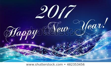 Starry new 2017 year banner, vector illustration Stock photo © carodi