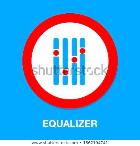 graphic equalizer with a set of sliders vector illustration stock photo © kup1984