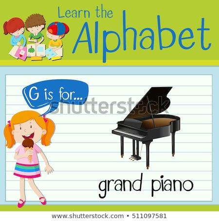 Piano à queue illustration enfants enfant fond Photo stock © bluering