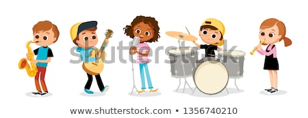 Kids playing music in school band Stock photo © bluering