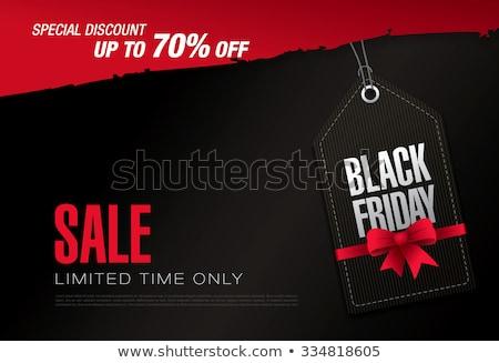 Black friday verkoop grunge stijl label ontwerp Stockfoto © SArts