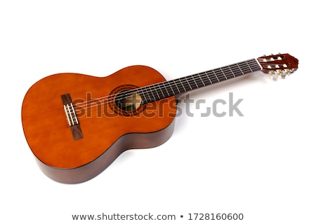 Natural Classical Acoustic Guitar Isolated on a White Background Stock photo © Kayco