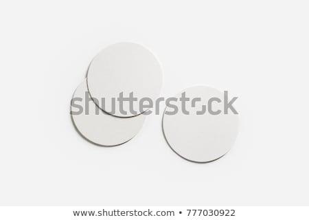 üres fehér sör poháralátét izolált 3d illusztráció Stock fotó © cherezoff