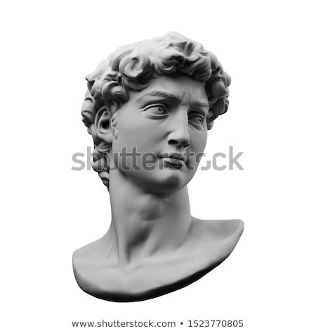 szobor · kéz · művészet · sziluett · fehér · történelem - stock fotó © doomko