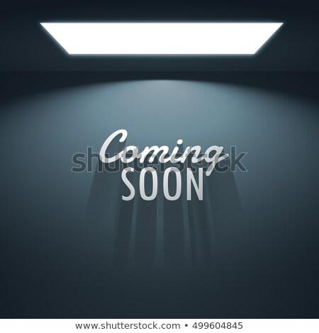 em · breve · texto · sombras · lâmpada · site - foto stock © SArts