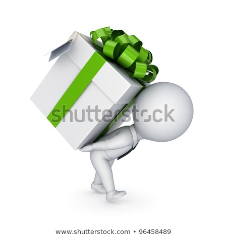 3d small people   gift card stock photo © anatolym