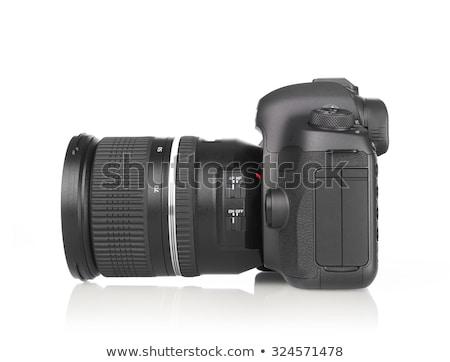 Lente moderno câmera digital vista lateral isolado branco Foto stock © nemalo