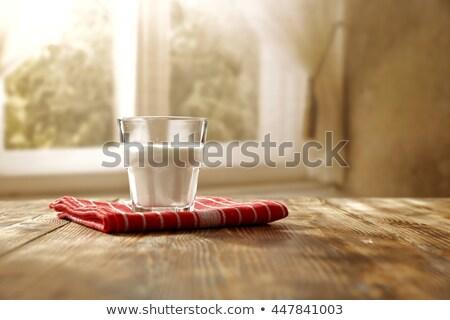 Taza té jarra leche mesa de madera madera Foto stock © Nobilior