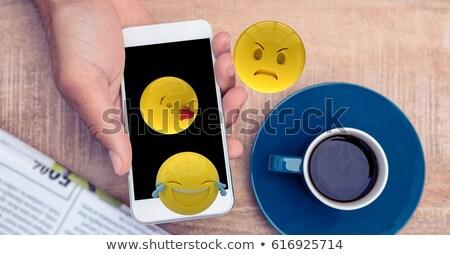 sarı · vektör · ikon · dizayn · teknoloji - stok fotoğraf © wavebreak_media