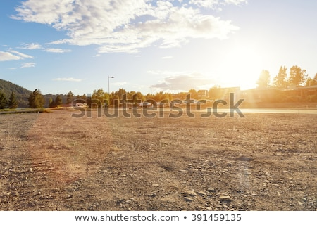 Desert ground with empty road Stock photo © bluering