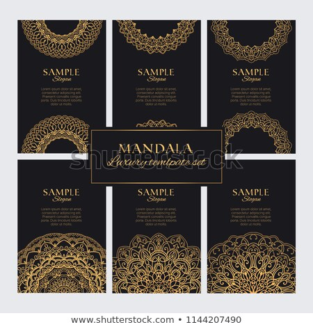 mandala card or banners in premium golden style stock photo © sarts
