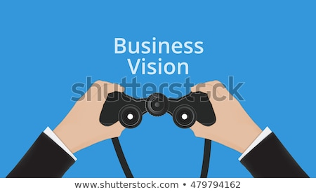 Binocular in Hand, Business vision, vector Stock photo © Andrei_