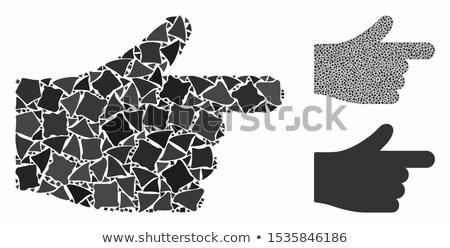 Hand moving piece Stock photo © raywoo