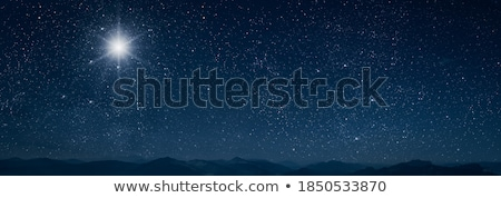 Stars over shining blue background Stock photo © simply