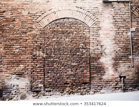 Weathered old British red brick wall background. Stock photo © latent