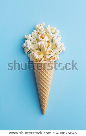 popcorn · bleu · peu · profond · papier · fond - photo stock © mady70