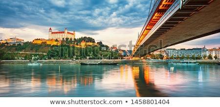 Bratislava · cityscape · imagem · cidade · Eslováquia · nuvens - foto stock © meinzahn