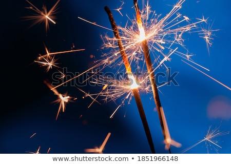 сжигание бенгальский огонь ночь вечеринка огня свет Сток-фото © BrandonSeidel