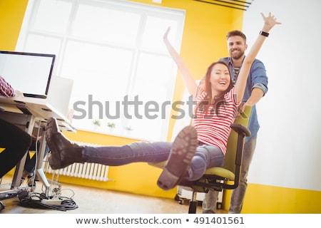 retrato · alegre · criador · empresário · escritório - foto stock © wavebreak_media
