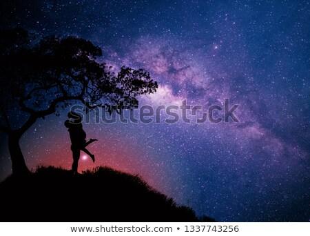 para · człowiek · krajobraz · świetle · księżyc - zdjęcia stock © alphaspirit
