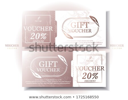 sale discount voucher template in modern style Stock photo © SArts