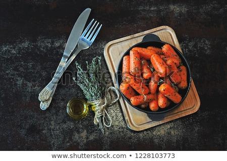 turuncu · havuç · gıda · plaka · pişirme - stok fotoğraf © stephaniefrey
