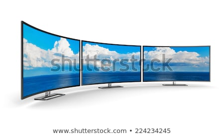 televisor · Screen · moderna · blanco · 3d · televisión - foto stock © make
