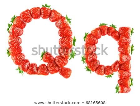 Stock fotó: Q · betű · eper · betűtípus · piros · bogyó · ábécé