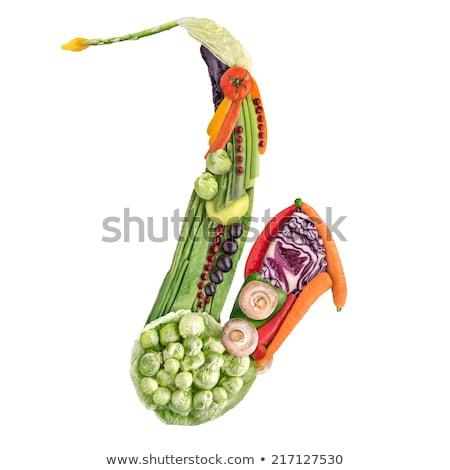 saksofon · sağlıklı · gıda · klasik · rüzgâr · enstrüman · saksofon - stok fotoğraf © fisher