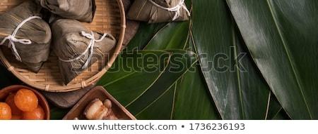 Tradycyjny chińczyk ryżu żywności wektora złota Zdjęcia stock © TRIKONA