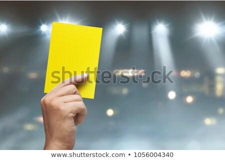 Sarı kart stadyum erkek spor hakem Stok fotoğraf © albund