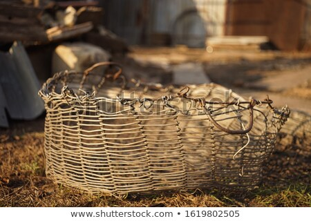 Empty wicker basket with handle arc Stock photo © orensila