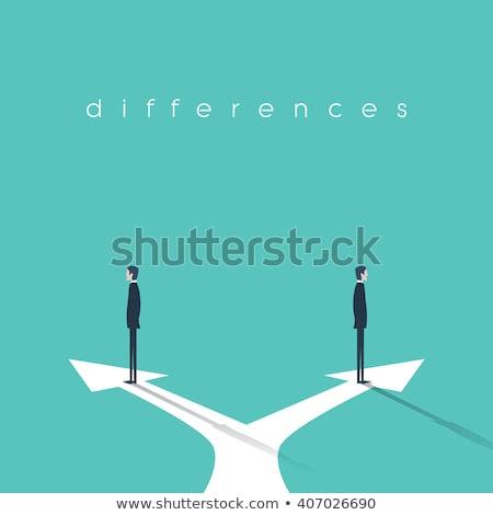 人 · 1 · 異なる · 多くの · 3次元の人々 - ストックフォト © oakozhan