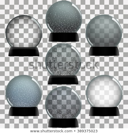 Stock photo: Snow globe isolated template empty on transparent background. Christmas magic ball. Realistic Xmas