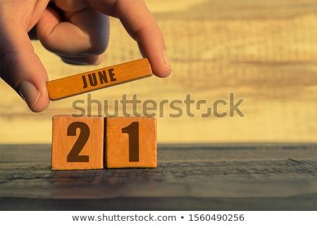 Stock photo: Cubes 21st June