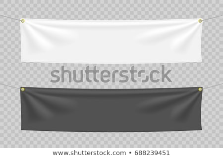 Black and white textile banners with folds Stock photo © pakete
