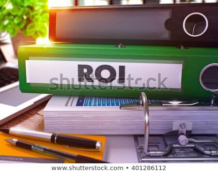 Verde oficina carpeta roi volver Foto stock © tashatuvango