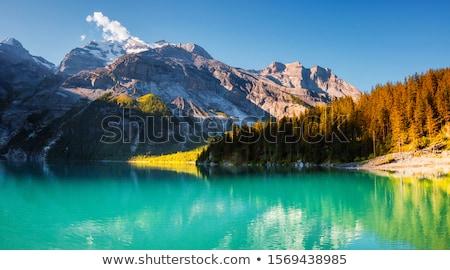 Panorama of the azure lake Oeschinensee. Swiss alps, Kandersteg. Stock photo © Leonidtit