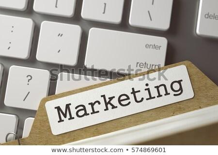 Kártya akta hirdetés kampány 3D fehér Stock fotó © tashatuvango