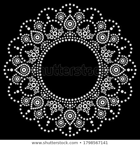 Aboriginal dot painting mandala, Australian ethnic design, vector dots pattern ethnic style  Stock photo © RedKoala