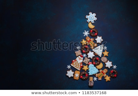 Christmas cookie Spice winter dessert viering Stockfoto © M-studio