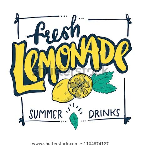 Logo limonada vector icono bebidas resumen Foto stock © butenkow
