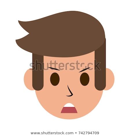 Pazza uomo icona clipart immagine faccia Foto d'archivio © vectorworks51