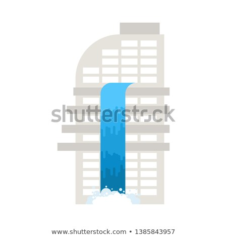 Flood in building. deluge in office. Stream of water flows from  Stock photo © MaryValery