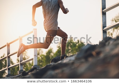 Man running on stairs, training Stock photo © blasbike