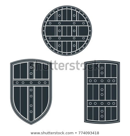 medieval cold steel arms banners